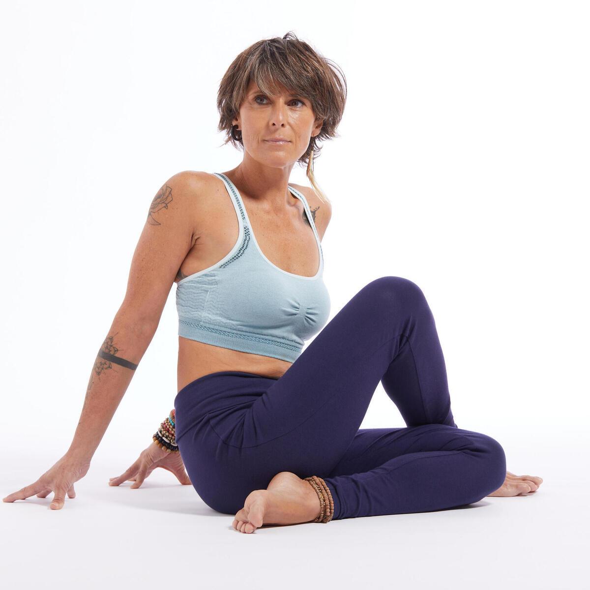 Bild 2 von Leggings sanftes Yoga aus Biobaumwolle Damen marineblau