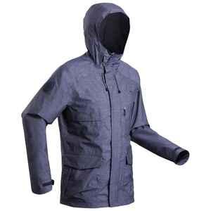 Regenjacke NH500 Protect Herren dunkelgrau für Naturwanderungen