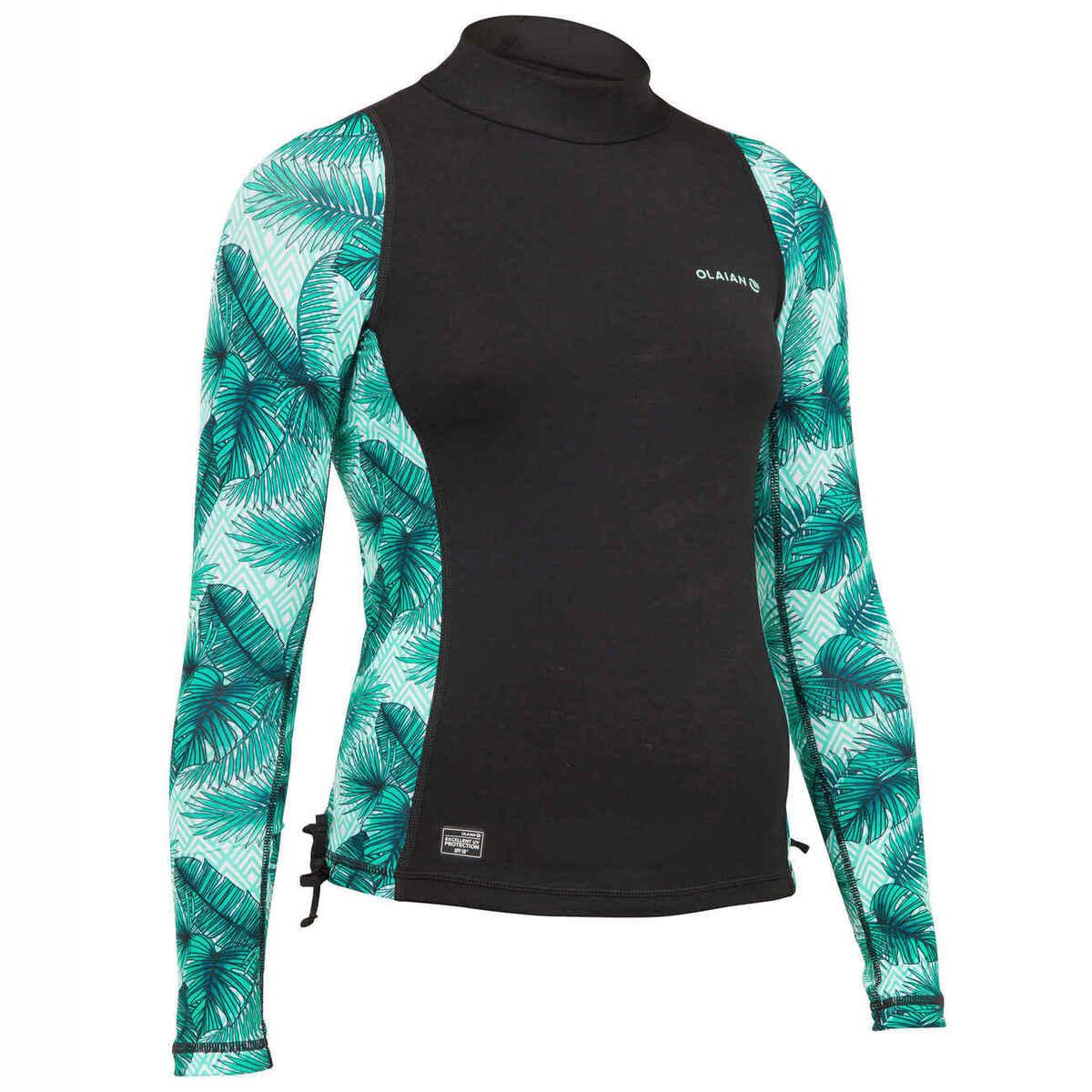 Bild 1 von UV-Shirt Langarm UV-Top 500 Aisau Kinder Mädchen schwarz/grün