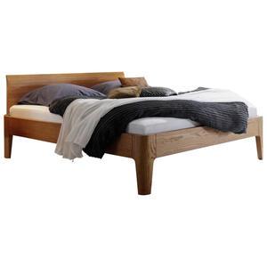 Hasena Bett eiche massiv , Oak-Line , Eichefarben , Holz , 140x200 cm , geölt, gebürstet,Echtholz , Über- und Sondergrößen erhältlich, in verschiedenen Größen erhältlich,Über- und Sondergr