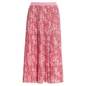 Damen Plissee-Rock mit floralem Muster