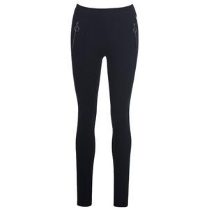 Damen Leggings Fake-Zippertaschen
