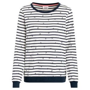 Damen Sweatshirt mit Anker-Print allover