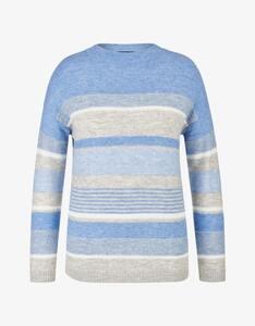 Bexleys woman - Streifen-Pullover mit Kaminkragen