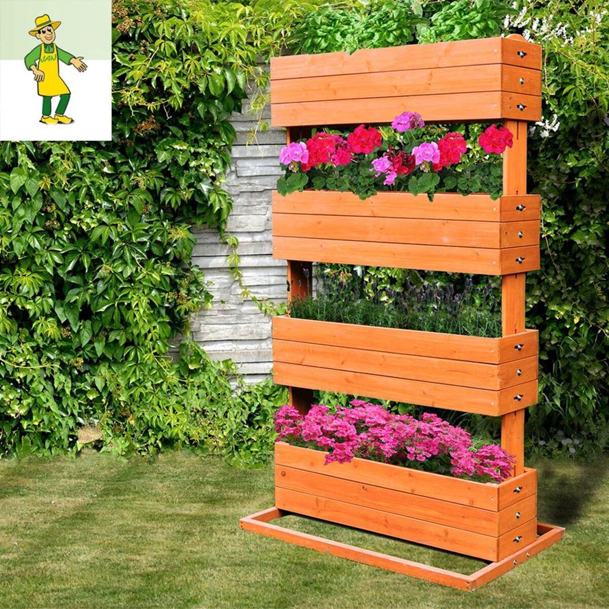 Bild 1 von Grüner Jan Pflanzenständer mit 4 Kästen aus Tannenholz 145cm