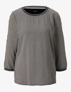 Tom Tailor - Shirt im Materialmix mit Ripp-Details