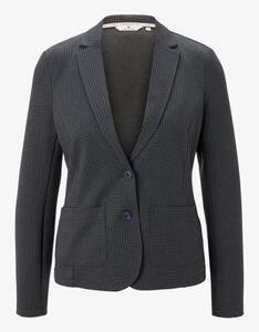 Tom Tailor - Jersey-Blazer mit Hahnentritt-Muster und Revers-Kragen