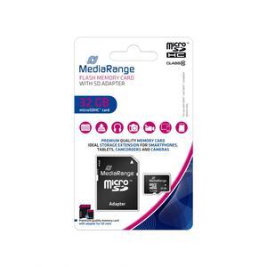 MediaRange microSDHC™ Speicherkarte, Klasse 10, mit SD-Karten Adapter, 32GB