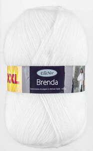 "ElleNor Gebürstetes Acrylgarn ""Brenda"" - Weiß"