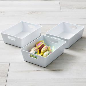 Toptex Ordnung Sichtlagerboxen, je ca. 12 x 16,5 x 5 cm - Weiß, 3er-Set