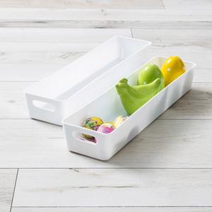 Toptex Ordnung Sichtlagerboxen, je ca. 40 x 10 x 6 cm - Weiß, 2er-Set