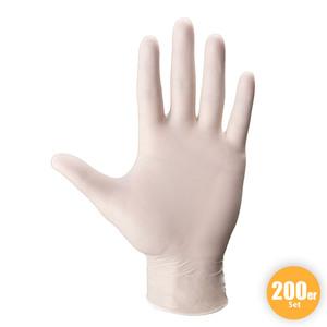 Multitec XXL-Latex-Handschuhe, Größe L - Weiß, 200er-Set