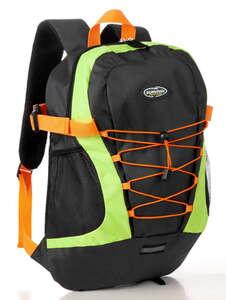 City Survival Rucksack mit Regenschutzhülle - Schwarz/Lime/Orange