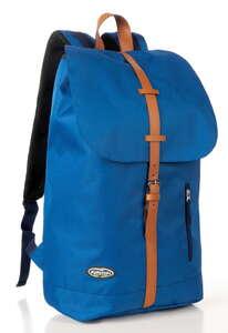 City Survival Rucksack mit Regenschutzhülle - Blau/Braun
