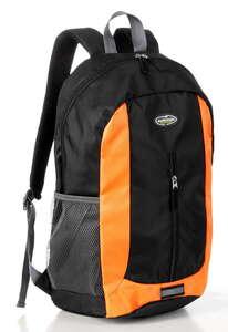 City Survival Rucksack mit Regenschutzhülle - Schwarz/Orange