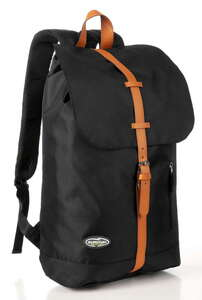 City Survival Rucksack mit Regenschutzhülle - Schwarz/Braun