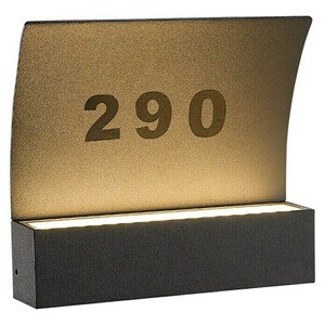 Starlux Hausnummern-LED-Außenleuchte Numero