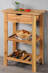 Kesper Grill- und Küchenwagen mit Schublade aus Akazienholz