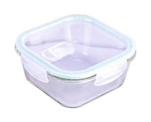 Steuber Frischhaltedose aus Glas, quadratisch, ca. 1200 ml