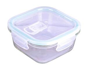 Steuber Frischhaltedose aus Glas, quadratisch, ca. 800 ml