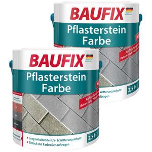 BAUFIX Pflasterstein Farbe transparent 2,5L 2er set