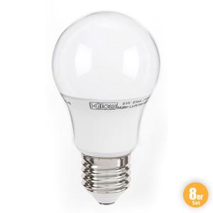 I-Glow LED-Leuchtmittel, Birne E27 - 8er-Set