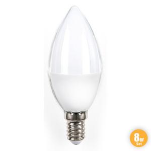 I-Glow LED-Leuchtmittel, Kerze E14 - 8er-Set