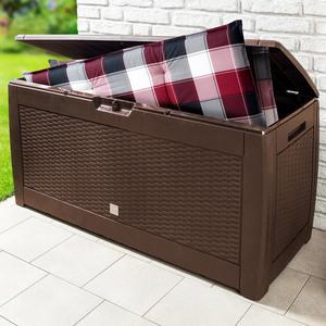 Powertec Garden Aufbewahrungs-Box 310L - Dunkelbraun