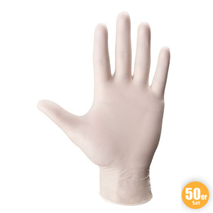 Multitec Latex-Handschuhe, Größe L - Weiß, 50er-Set