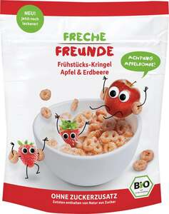 erdbär Bio Freche Freunde Frühstücks-Kringel Apfel & Erdbeere