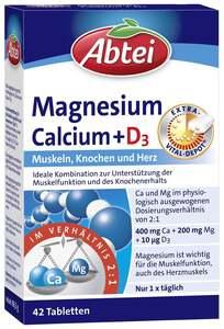 Abtei Magnesium Calcium + D3 Tabletten