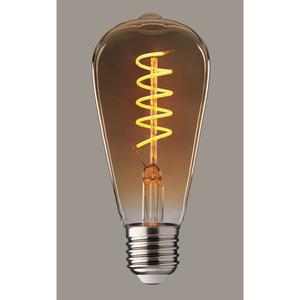 Stiltalent® by toom LED-Leuchtmittel Kolben 'Amber' E27 2 W 100 lm