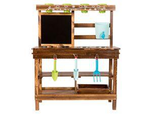 PLAYTIVE® Holzspielküche mit Kreidetafel