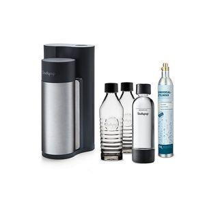 Sodapop Harold Black Matt inkl. 2 Glaskaraffen, 1 PET Flasche u. 1 CO2-Zylinder 60L
