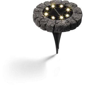 Solar Bodenleuchte 4er-Set, Steinoptik