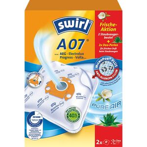 Swirl Staubsaugerbeutel, Micro Por Plus, A 07