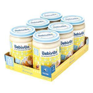 Bebivita Frucht & Joghurt Pfirsich-Maracuja 190 g, 6er Pack