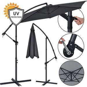 ArtLife Ampelschirm Brazil 3 m Kurbel & Ständer – UV-Schutz wasserabweisend knickbar Sonnenschirm