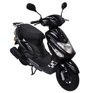 Alpha Motors Motorroller CityLeader 50 ccm 45 kmh, schwarz