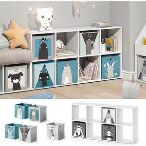 Vicco Kinderregal 8 Fächer inklusive Kinder Faltboxen Bücherregal Aufbewahrungsregal Spielzeug