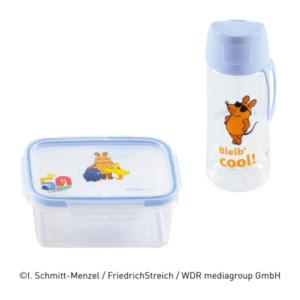 Trinkflasche / Brotdose Die Maus