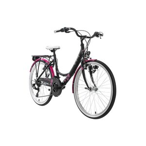 "KS Cycling Kinderfahrrad 24"" Dandelion Alu Rahmen für Mädchen, Größe: 41, Grau"