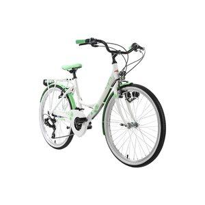 "KS Cycling Kinderfahrrad 24"" Dandelion Alu Rahmen für Mädchen, Größe: 41, Grün"