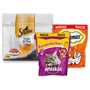 Whiskas Dreamies Sheba Snacks / Fresh & Fine