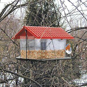 Vogelfutterhaus aus Kunststoff