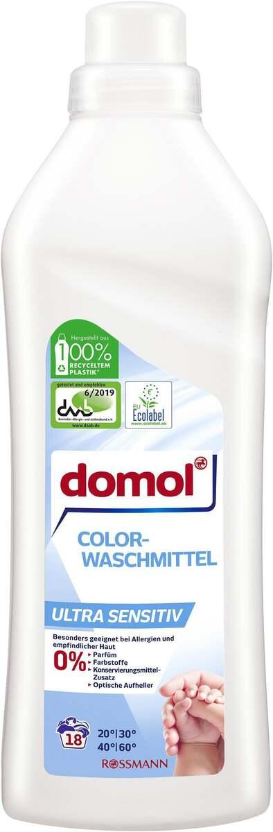 Bild 1 von domol Color Flüssigwaschmittel Ultra Sensitiv 0.13 EUR/ 1 WL