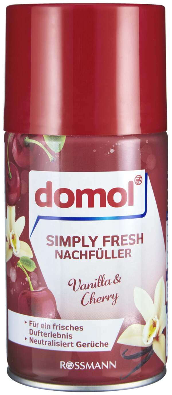 domol Simply Fresh Nachfüll-Spray Vanilla & Cherry 0.90 EUR/ 100 ml