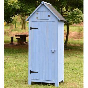 Holz-Gartenschrank Blau