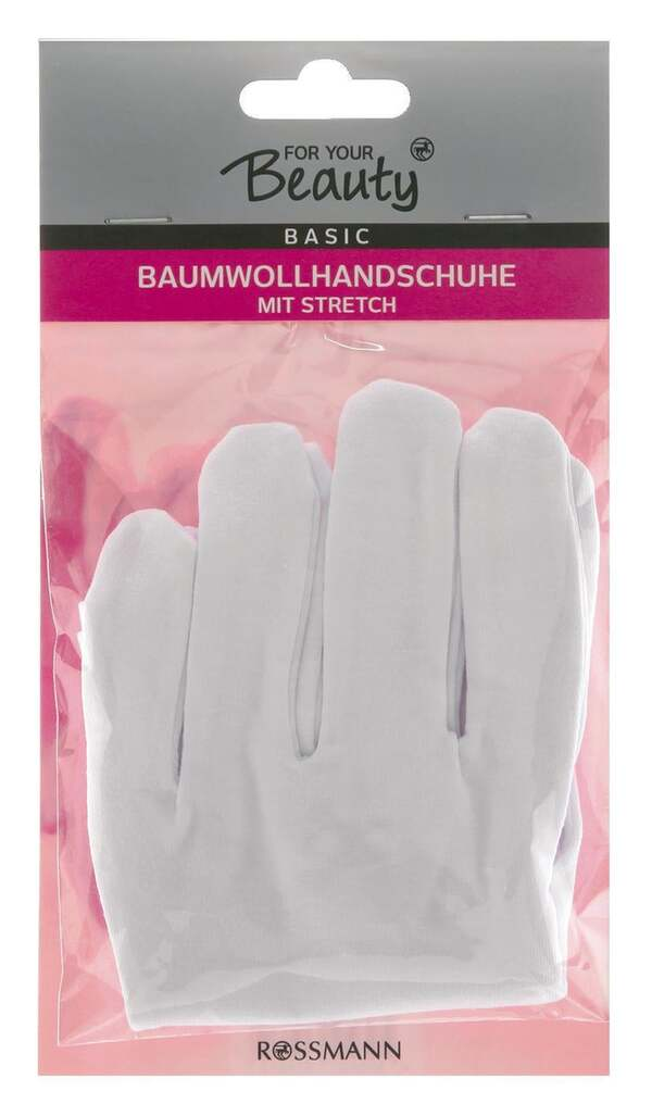 for your Beauty              Basic Baumwollhandschuhe mit Stretch