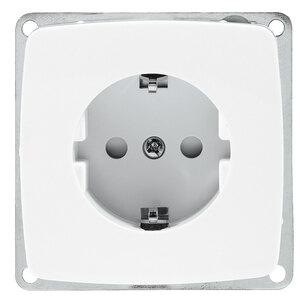 Schuko- Steckdose Basic, elektroweiß
